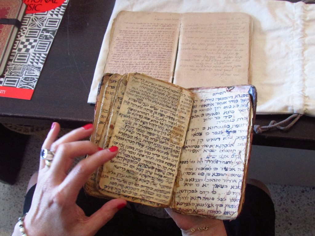 A handwritten Hebrew prayer book that belonged to a Moroccan Jewish cantor in the 1920s. This is but one of the many relics Paloma intends to include as part of the archive.
