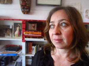 Vanessa Paloma, 41, in her study in Casablanca. Since 2007, Paloma, scholar and singer of Judeo-Spanish music, has been traversing Morocco, collecting an expansive sound archive of Morocco's Jews in the form or oral histories that she plans to make available as the first ever in the country.