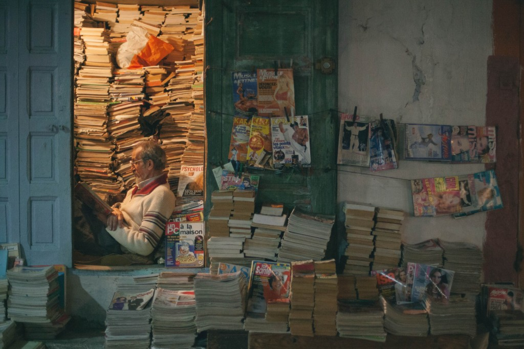 Aziz Mohammad, 66, has owned his bookshop in Rabat's medina for over 50 years, since he was 15. He has handpicked some 4,000 titles from different neighborhoods around Rabat.